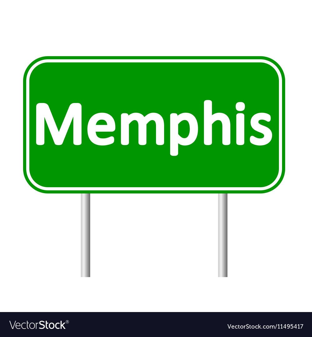 Memphis green road sign vector image