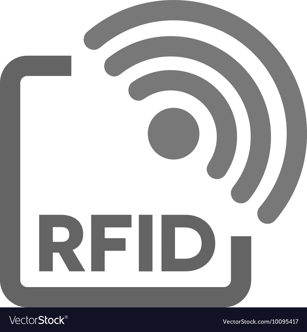 RFID tag icon Radio Frequency ...