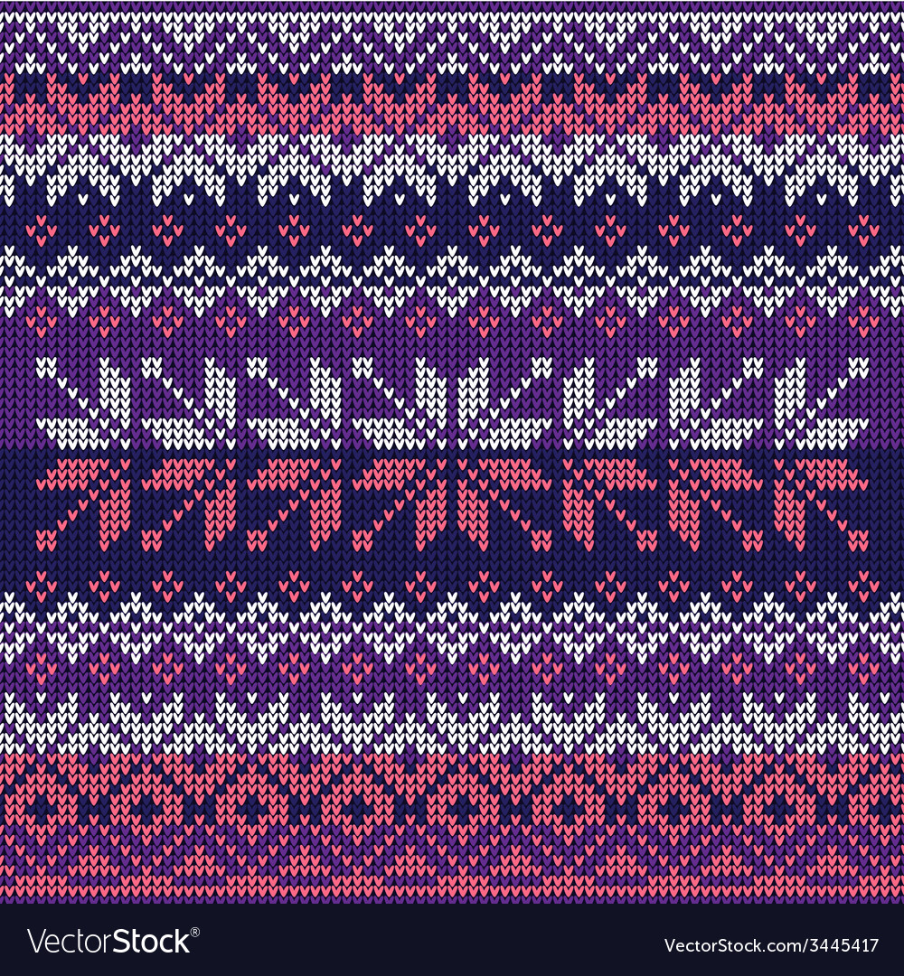 Scandinavian style seamless knitted pattern Colors