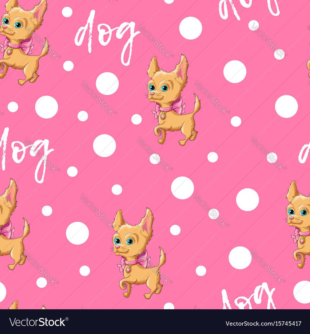 Seamless pattern kid s cute dog