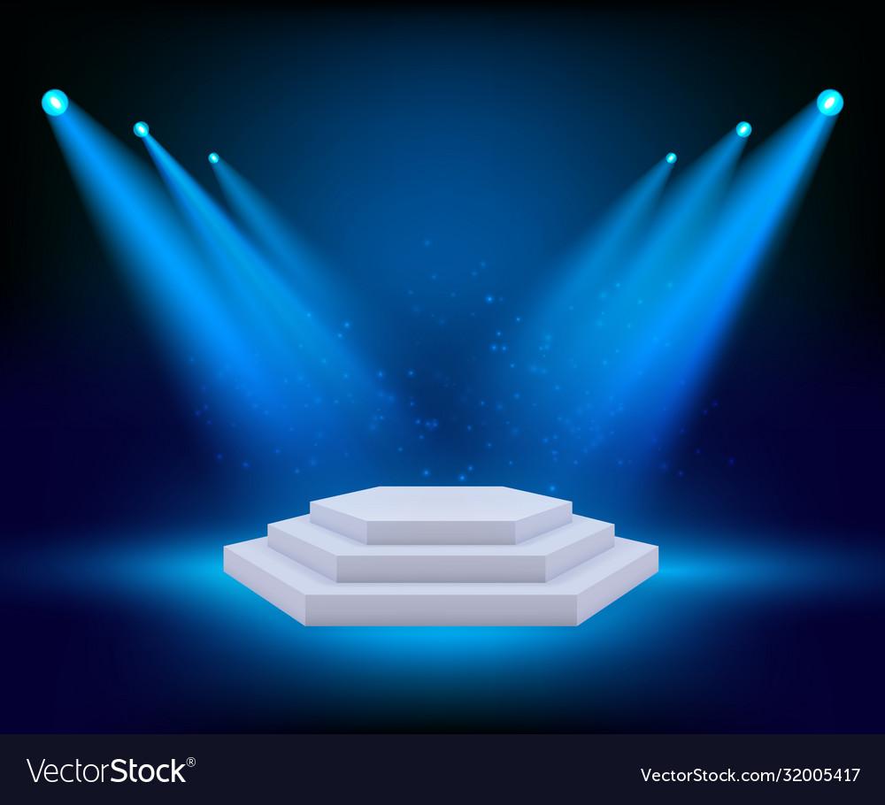 Spot lighting podium theatre studio awards