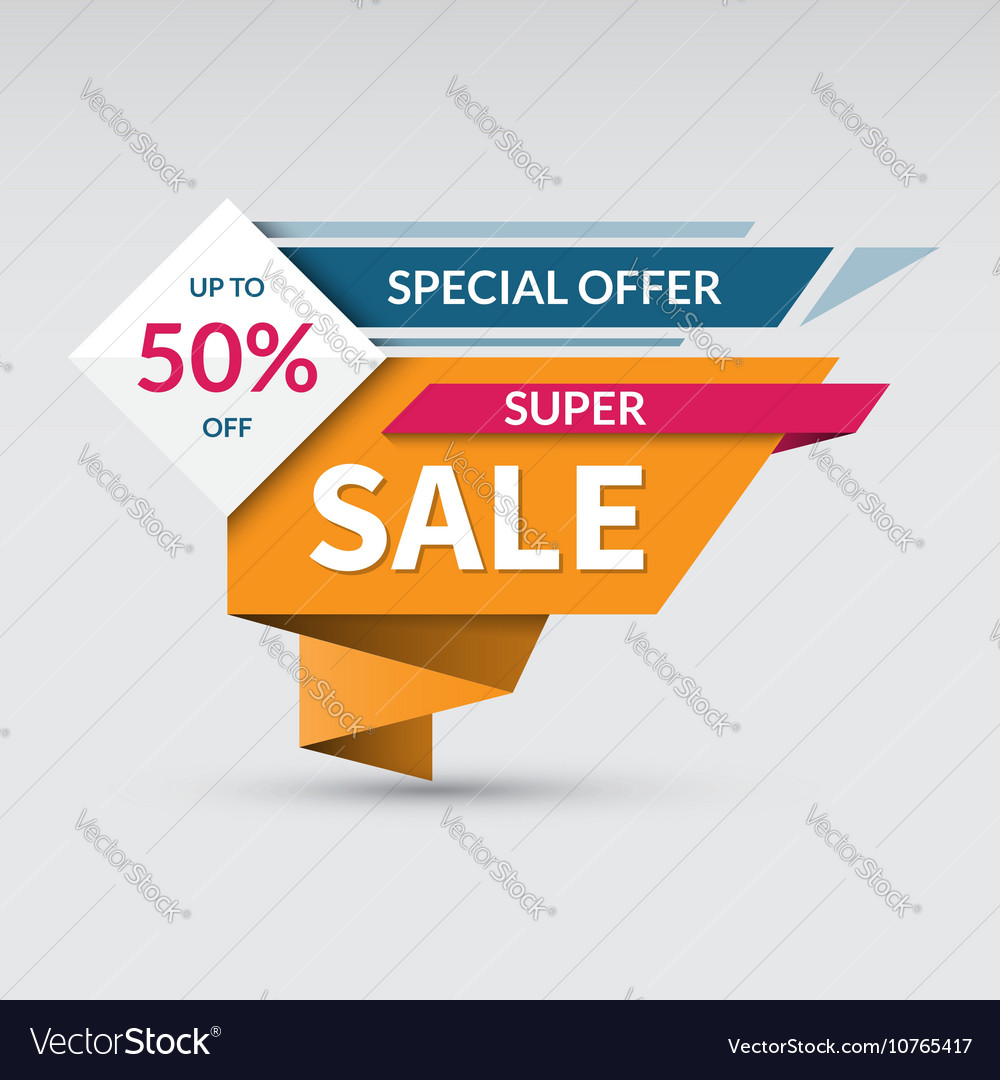 Super sale banner Special offer label vector image