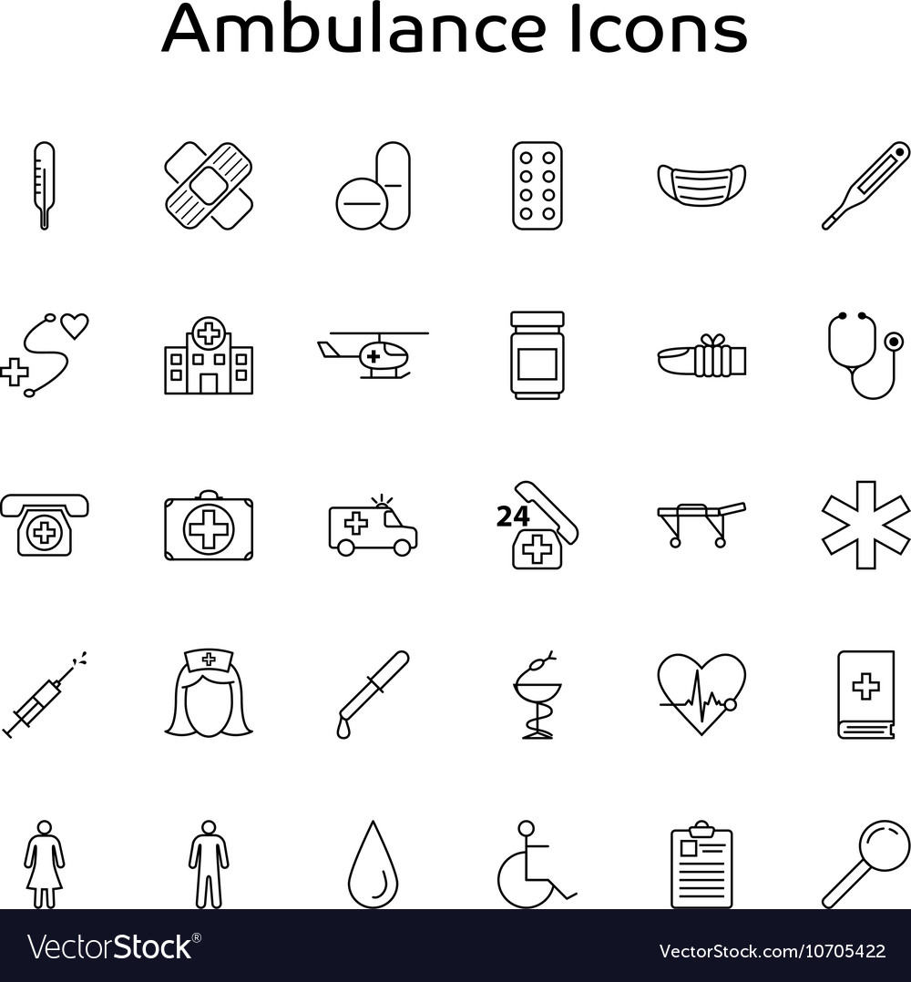 Ambulance Medical and Healthcare outline