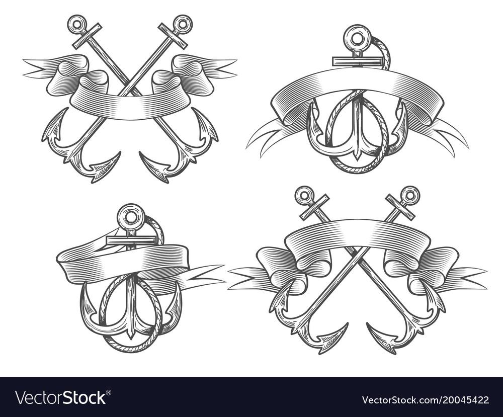 Anchor with ribbon set