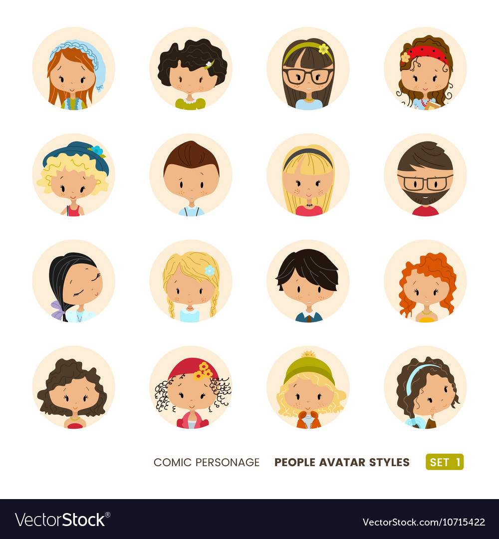 People avatars collection Set of Hipster avatar