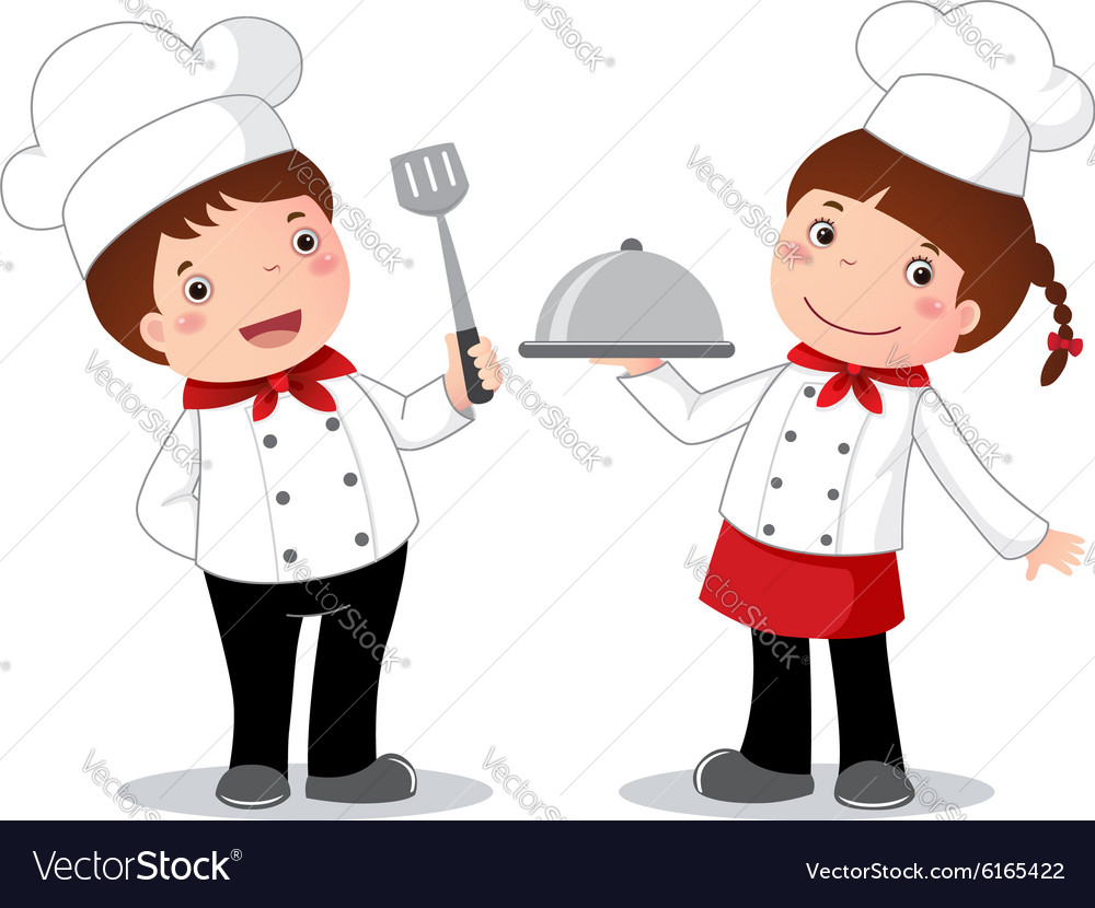 Profession costume of chef for kids vector image