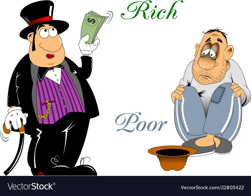 rich and poor royalty free vector image vectorstock