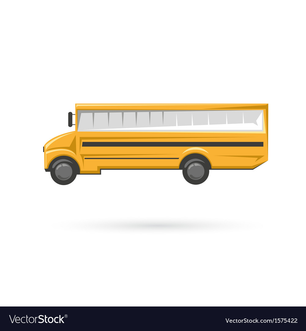 School bus isolated on a white backgrounds vector image