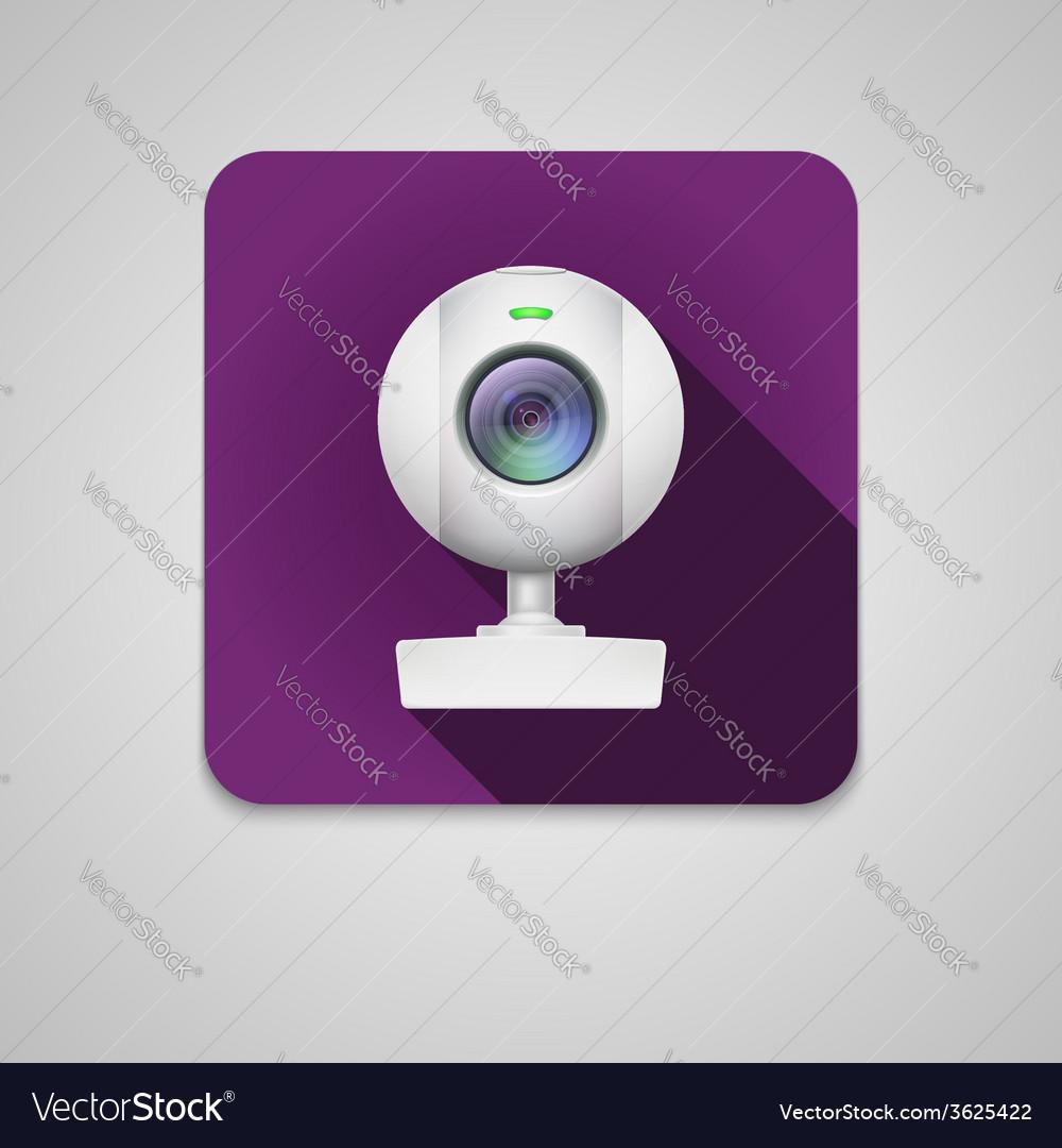 Webcam of white plastic