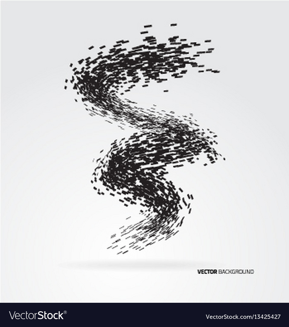 Abstract geometric wave design element vector image