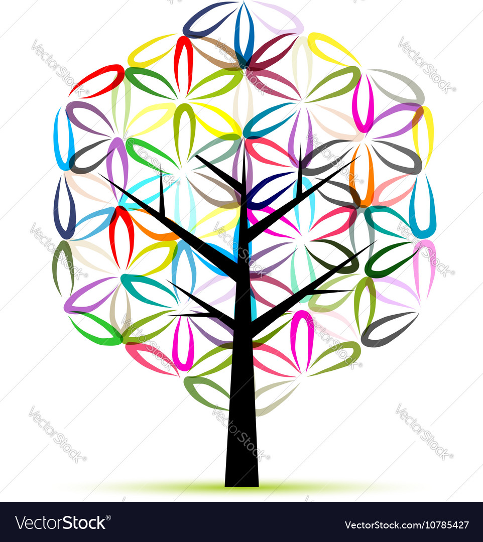 Flower of Life Art tree sketch for your design