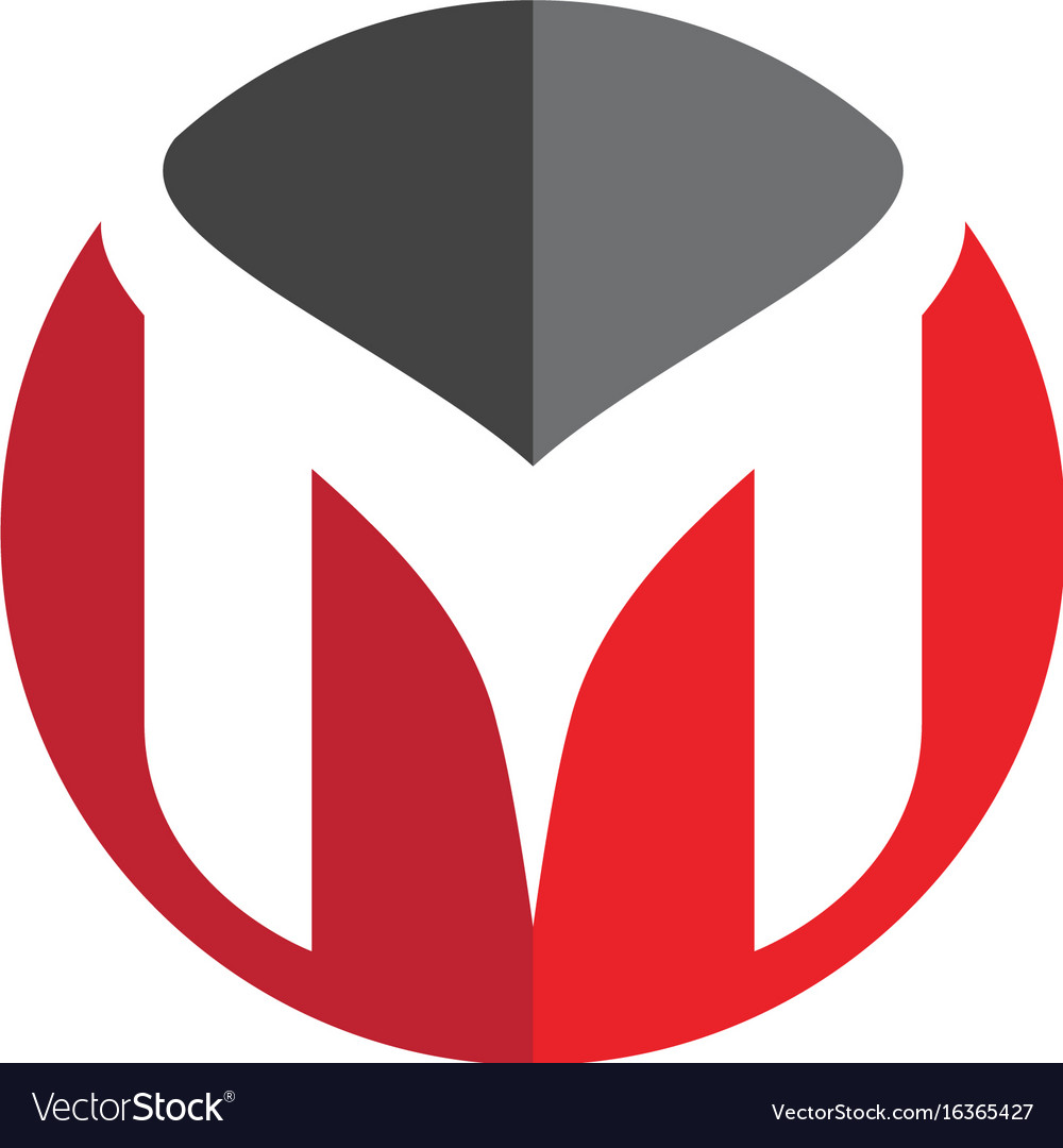 M letter logo template design