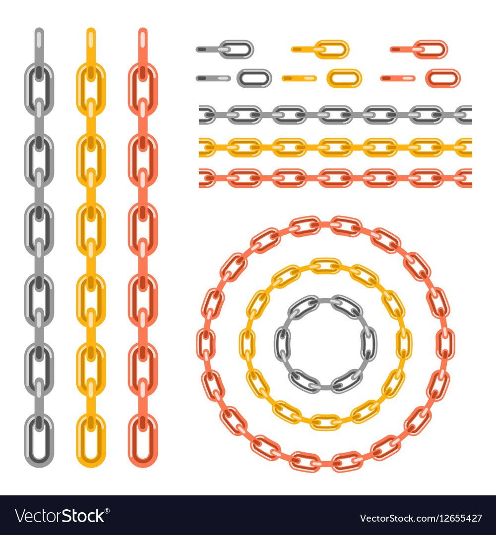 Metal chain pattern brush vector image