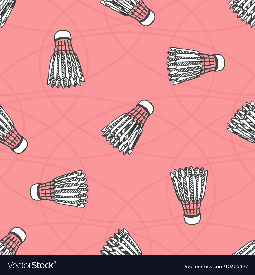 Seamless colored badminton ball pattern