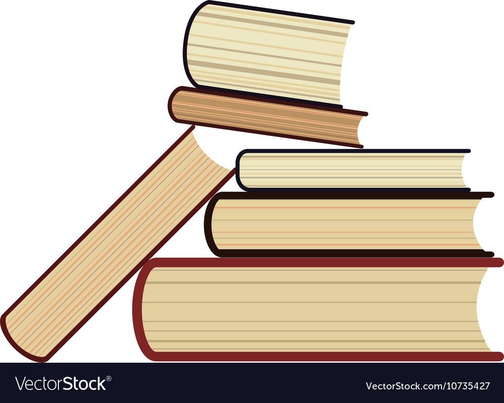 Six 6 books stack study library symbol Bookstore