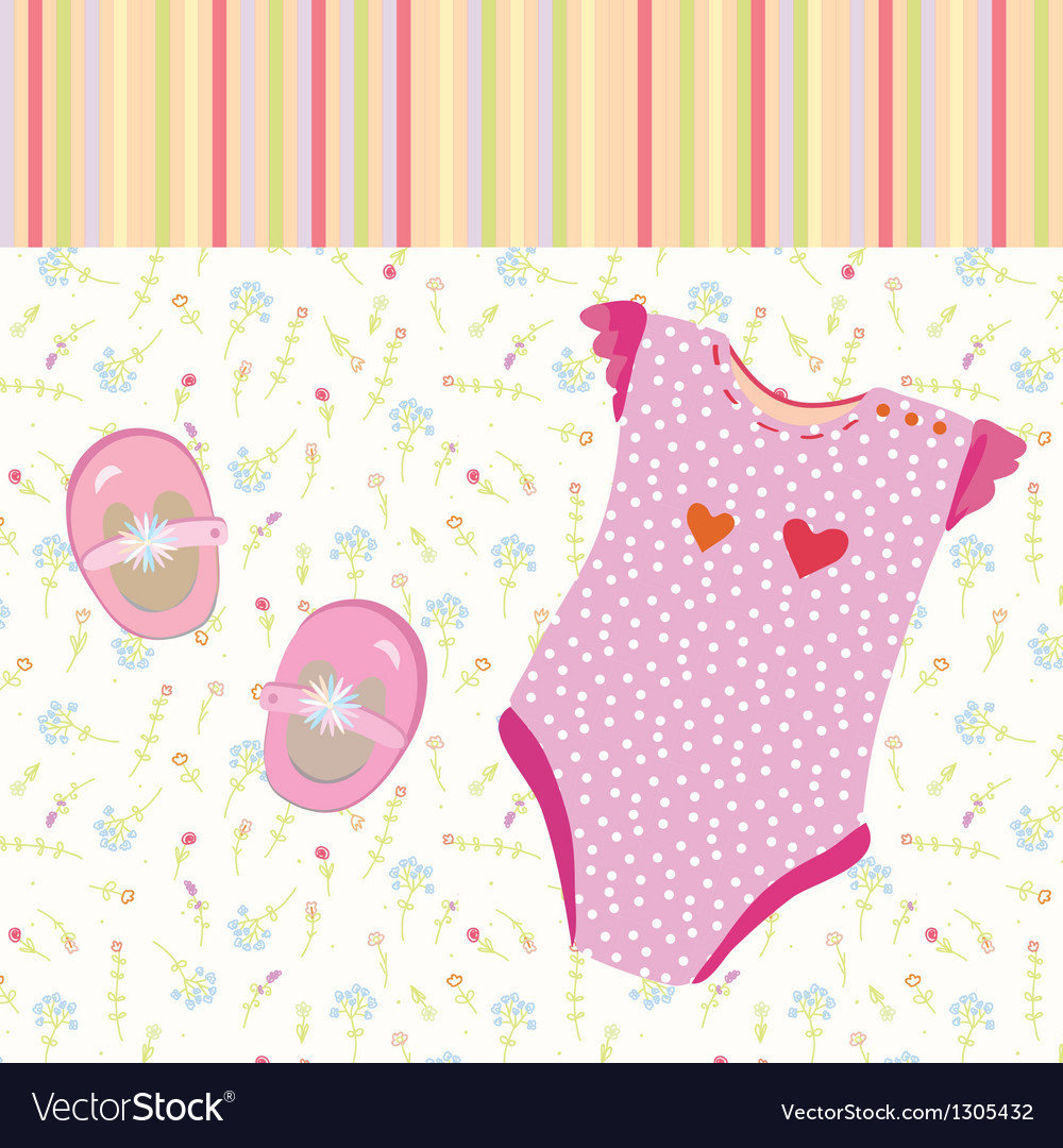 baby girl background with shoes royalty free vector image