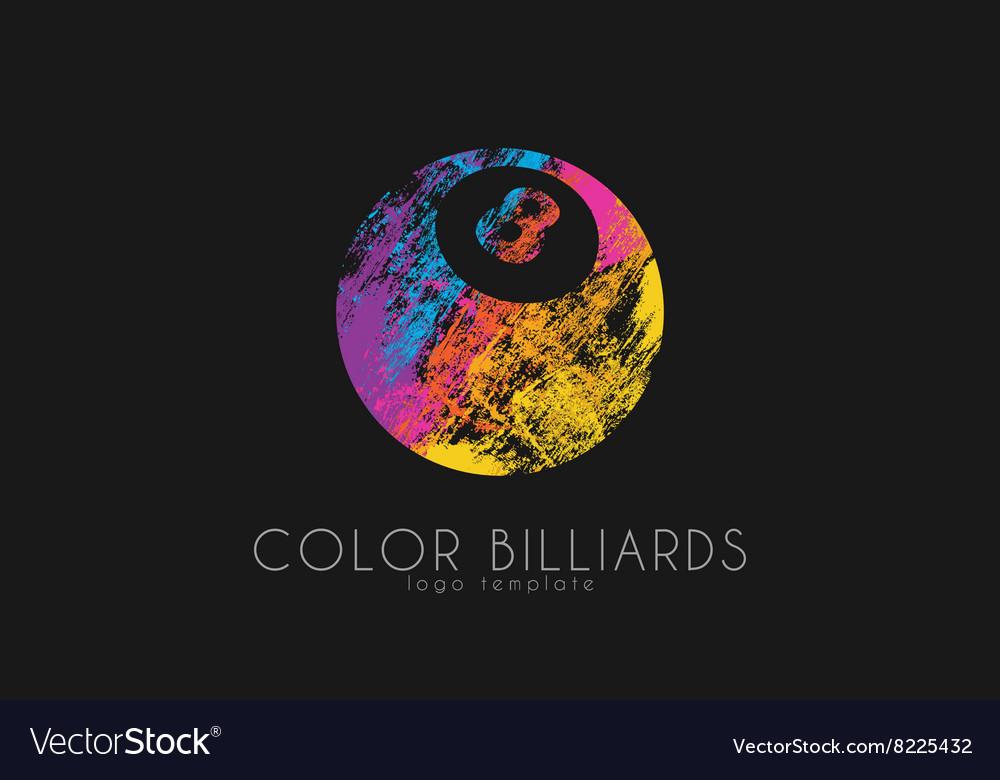 Billiard ball logo Billiard logo Color ball logo