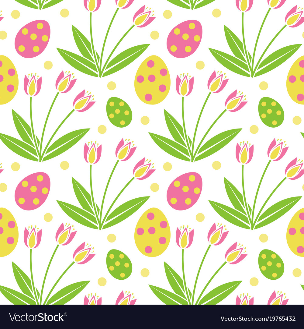 Cute easter seamless pattern spring repeating