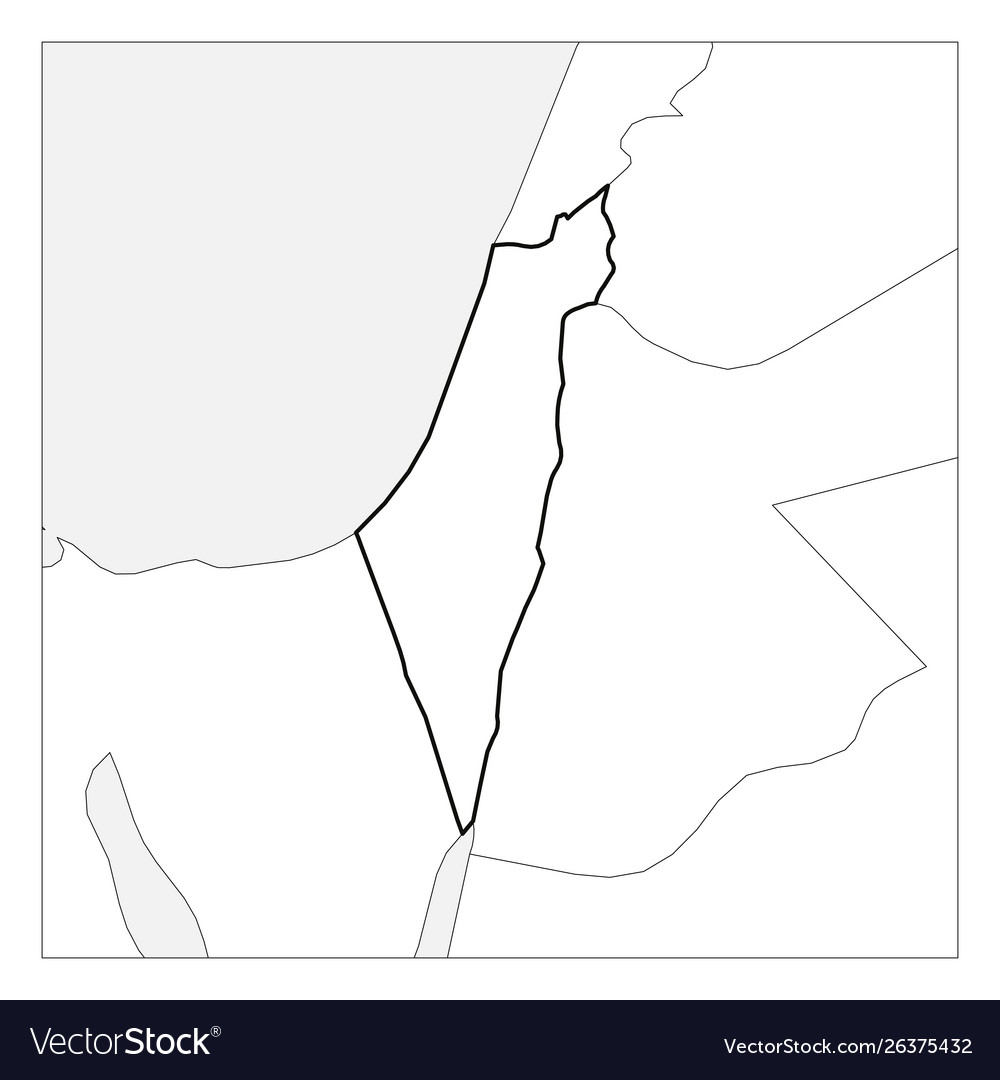 Picture of: Map Israel Black Thick Outline Highlighted Vector Image