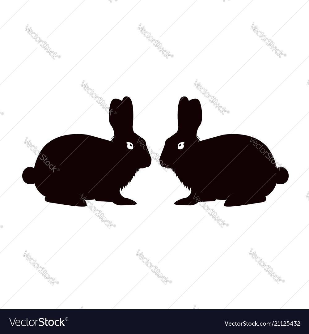 Rabbit icon sign symbol