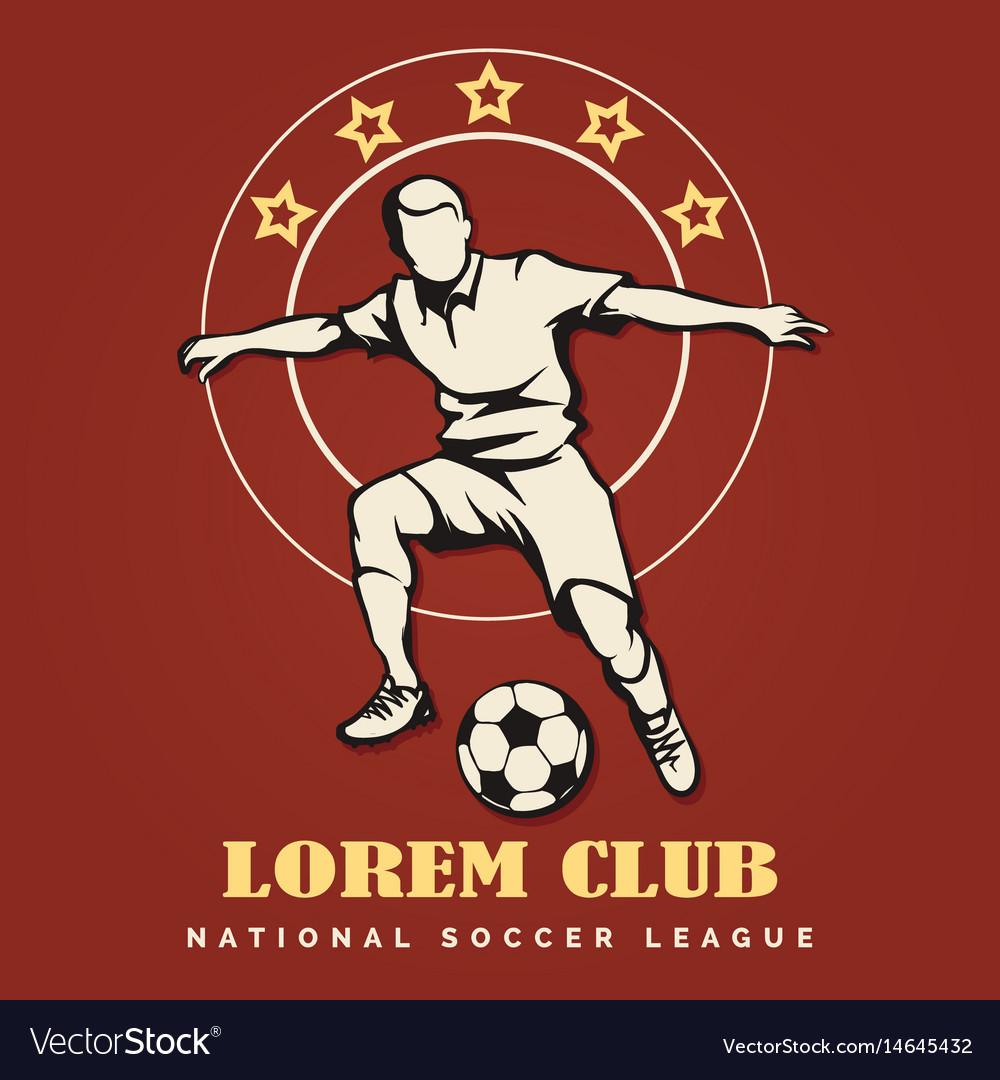 Soccer club retro emblem vector image