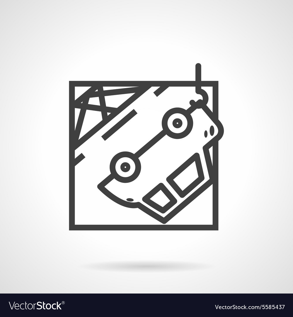 Abstract icon for car evacuation