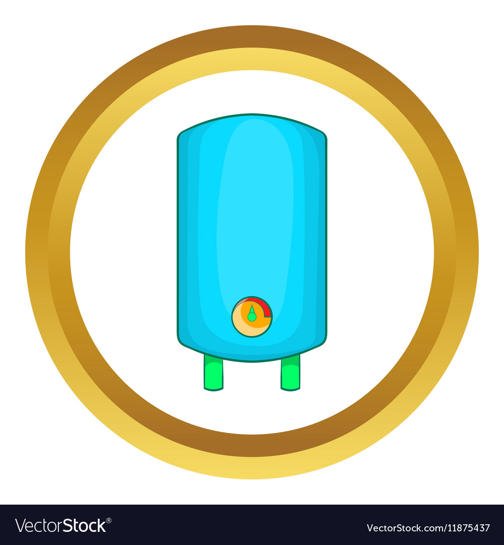Boiler water heater icon Royalty Free Vector Image