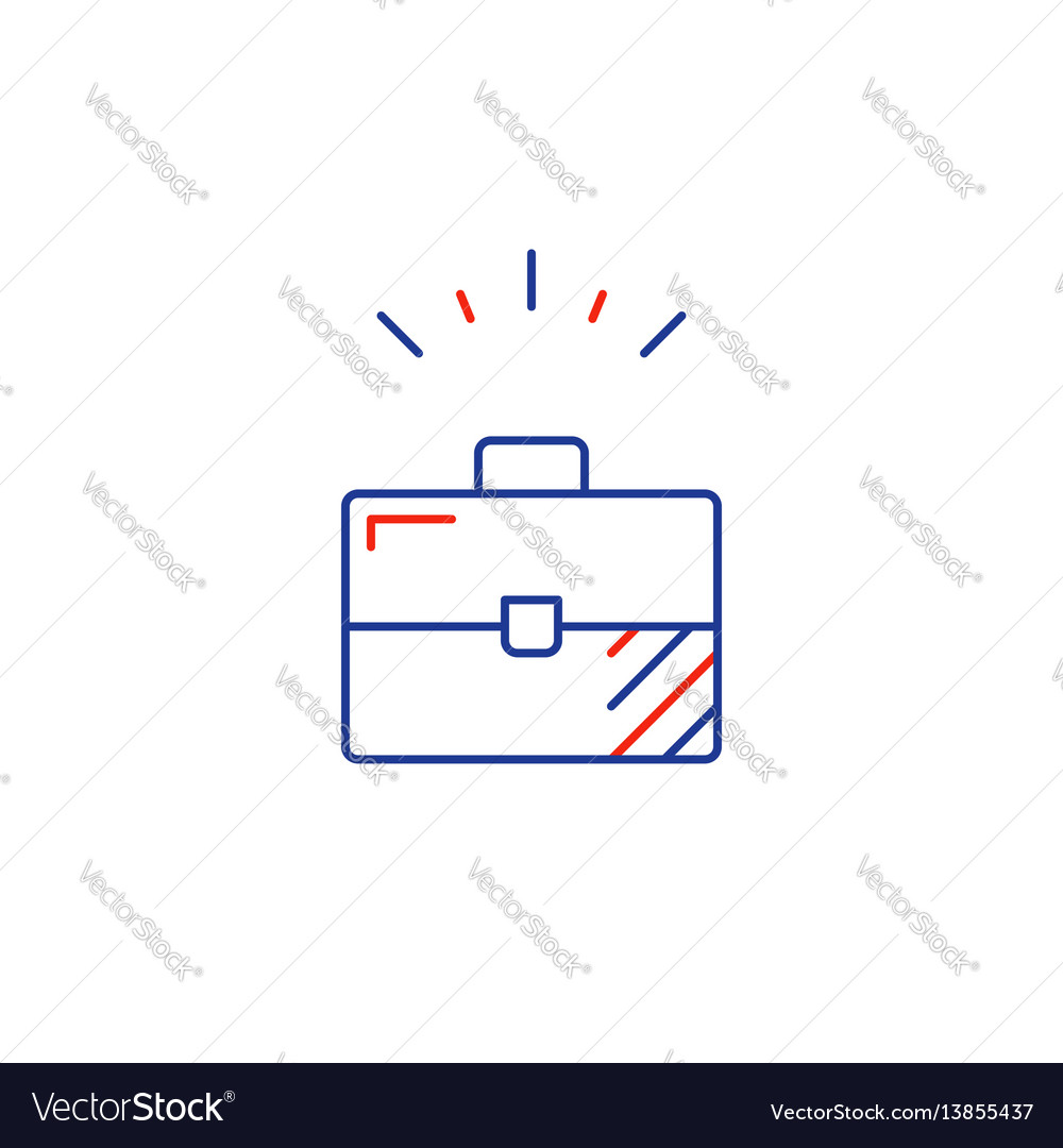 Business development line icon sole entrepreneur