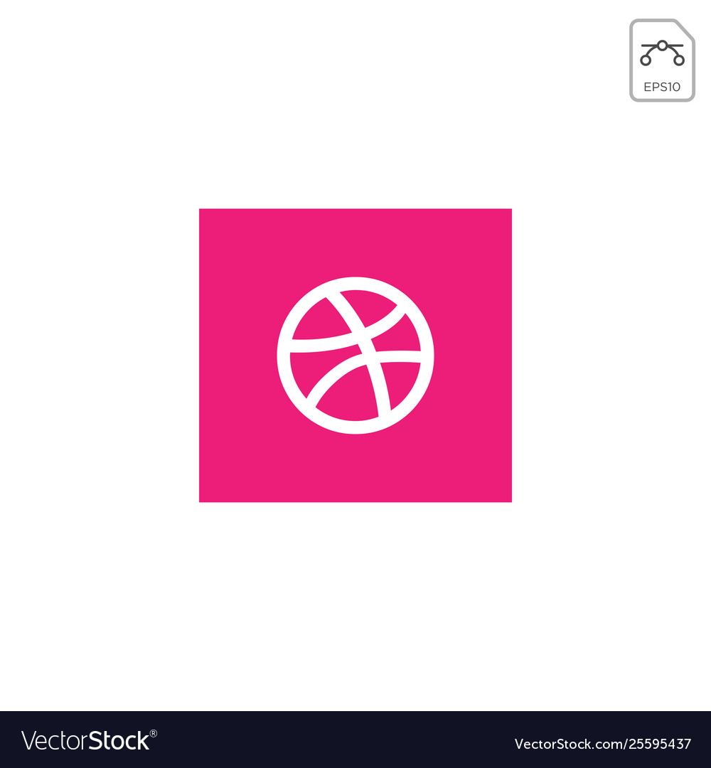 Dribbblr logo or symbol design ison isolated