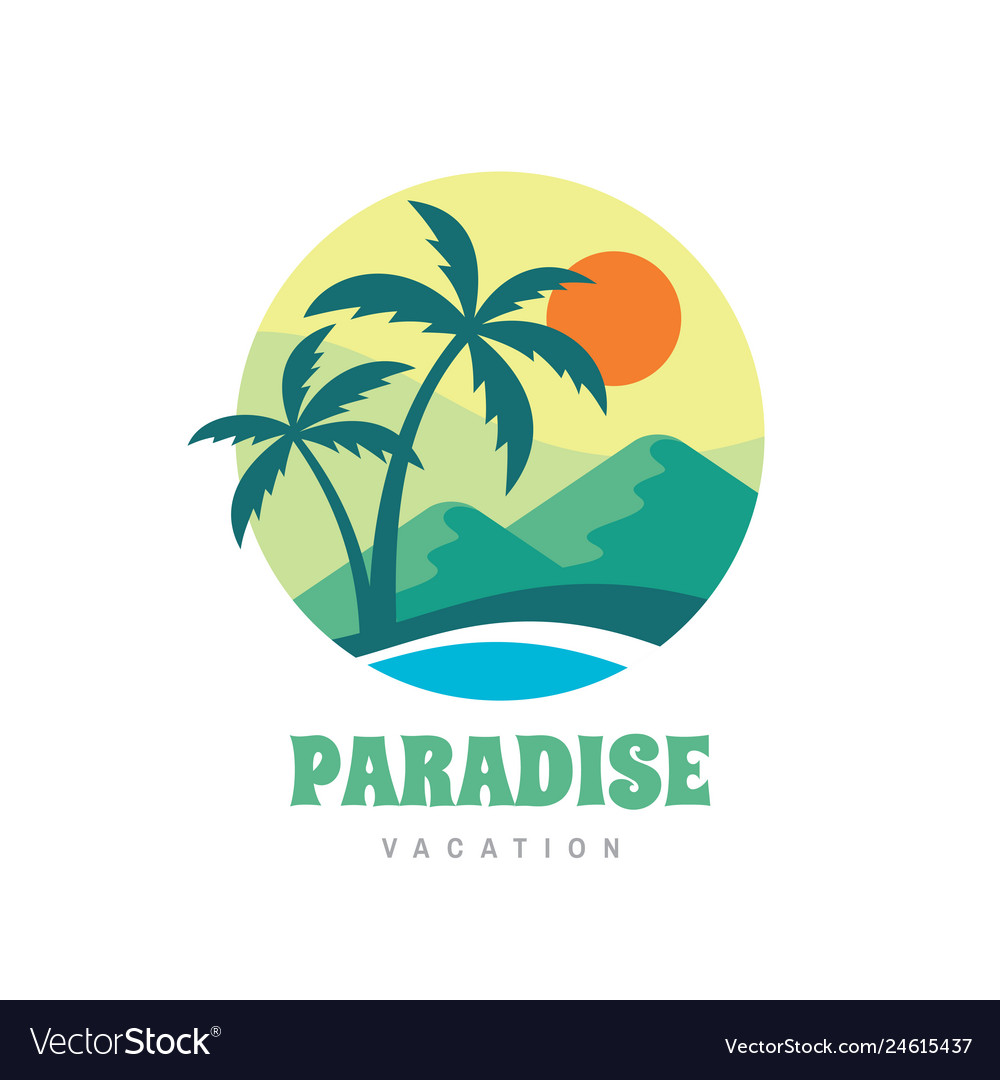 Paradise vacation - concept business logo