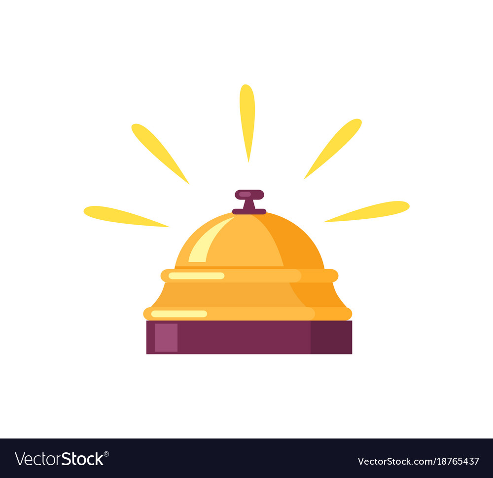Ringing golden bell icon