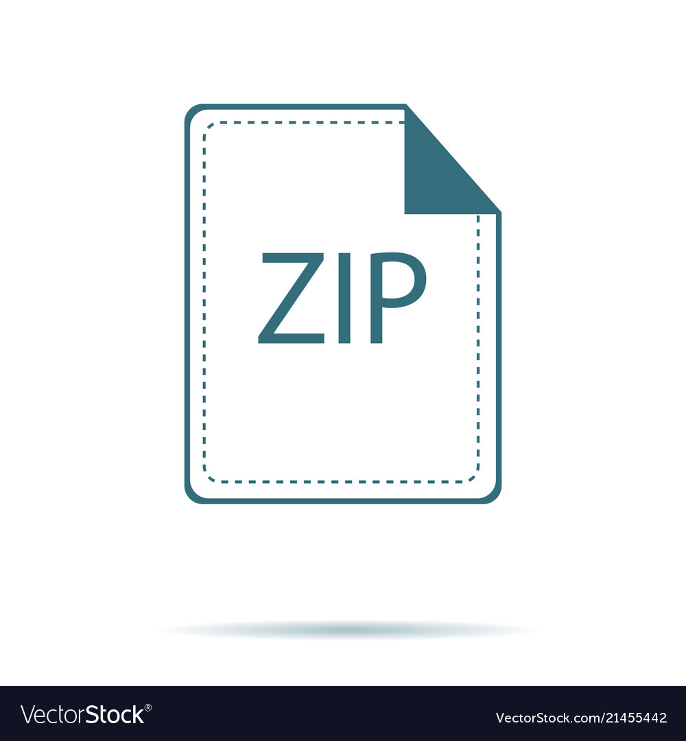 Blue zip icon isolated on background modern flat