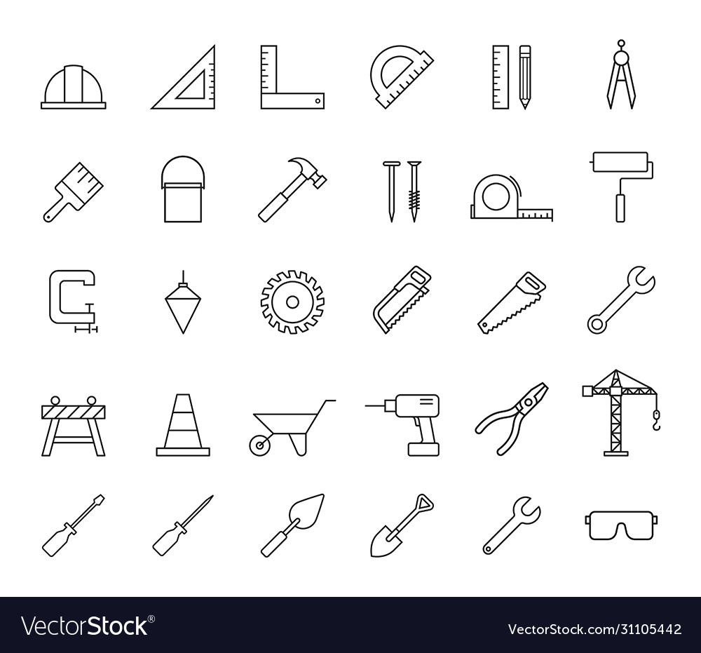 Construction property services icons
