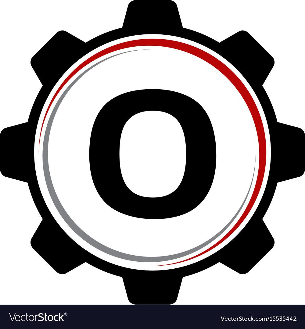 Gear solution logo letter o