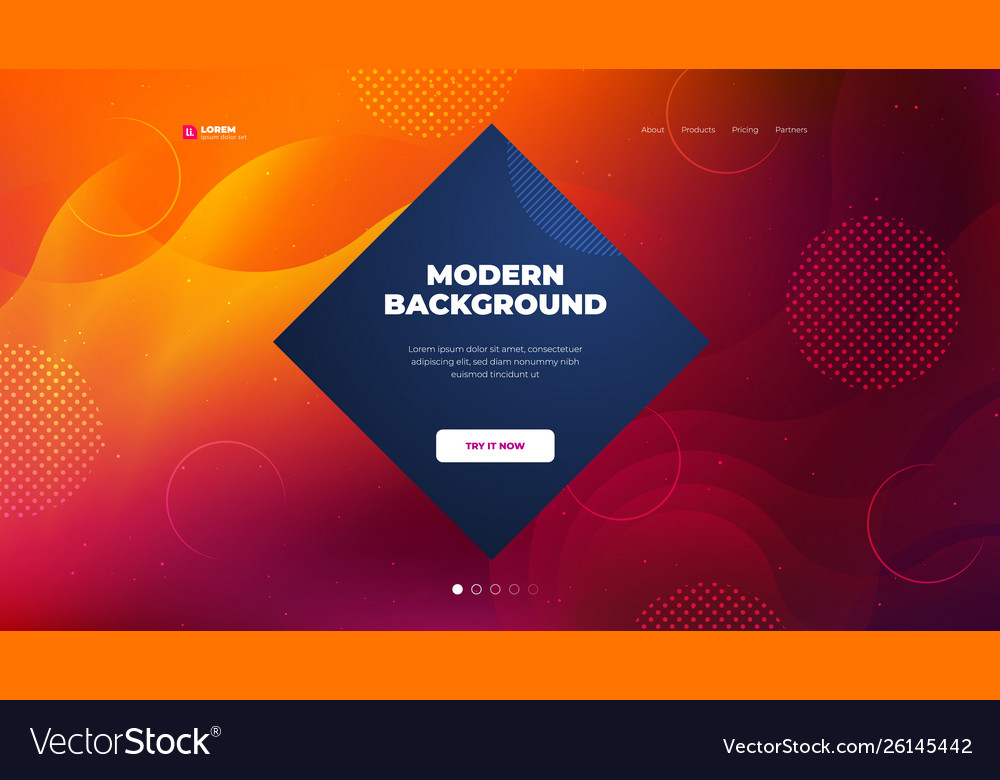 Liquid color background design for landing page