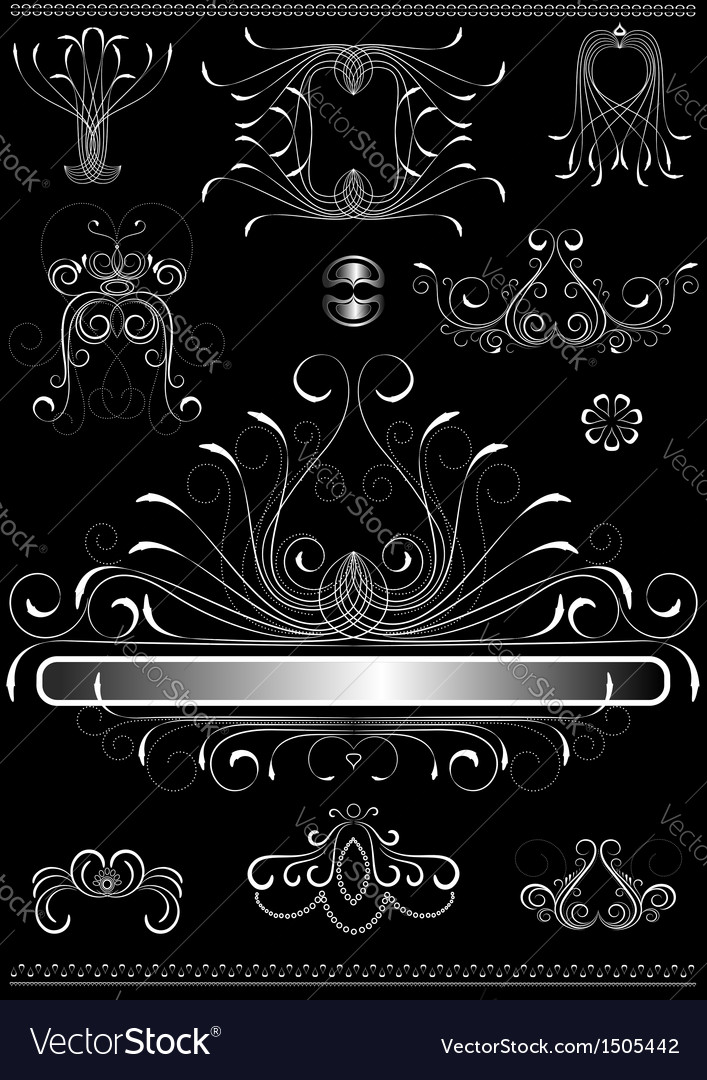Original white calligraphic frame vector image