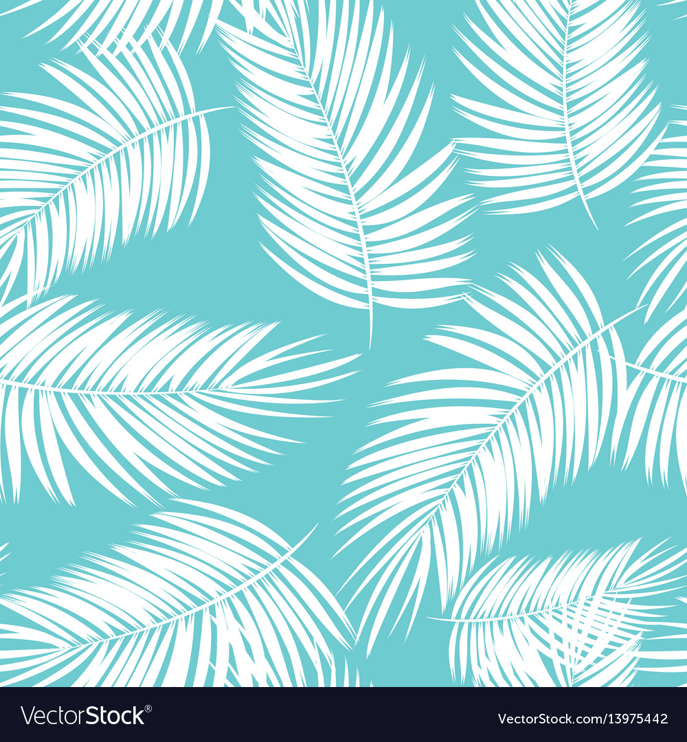 Palm Leaf Seamless Pattern Background Royalty Free Vector