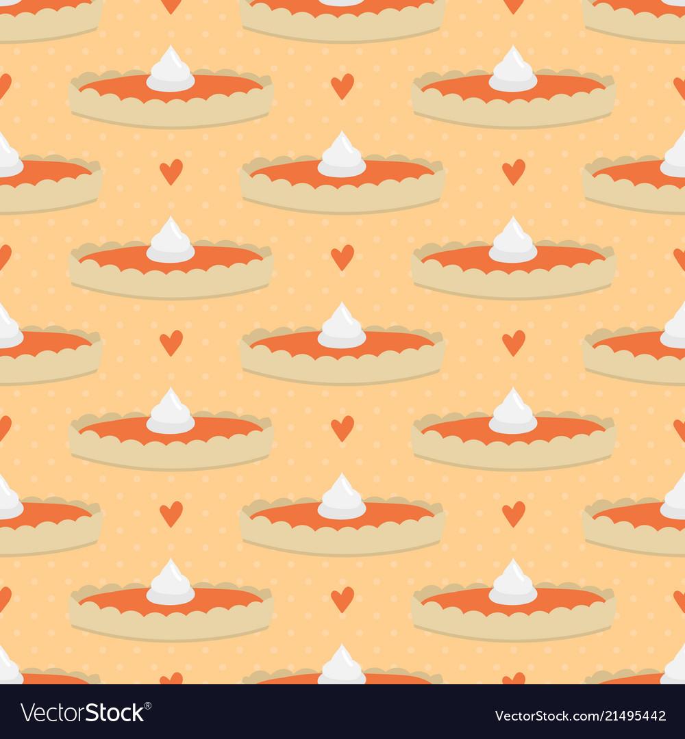 Pumpkin pie seamless pattern background