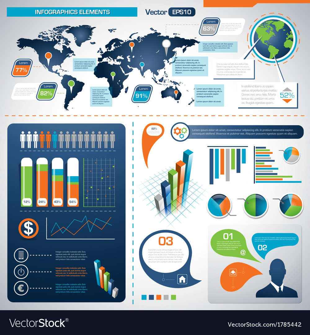 Set of Infographic Elements Information Graphics