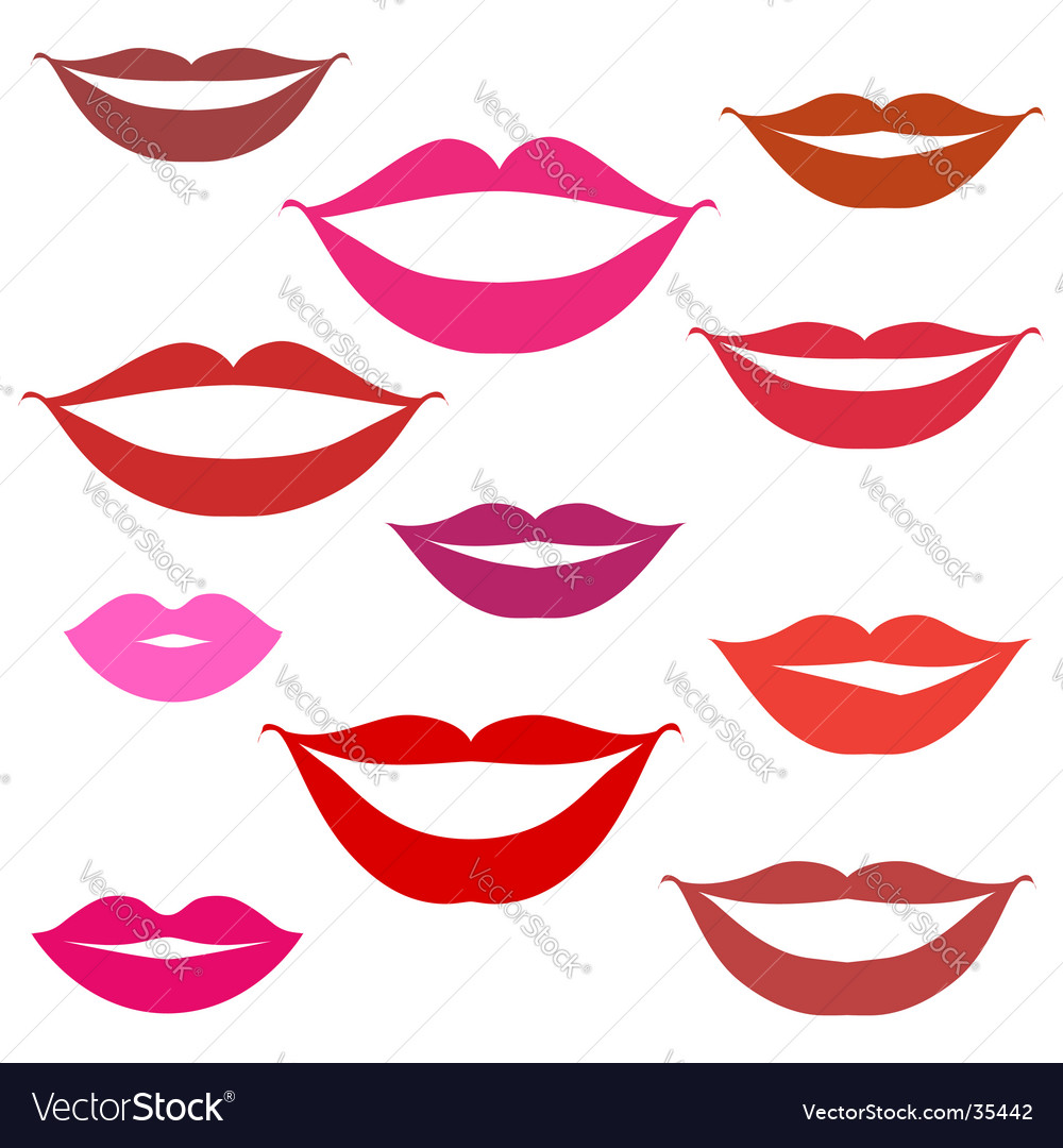 Smiles lips background