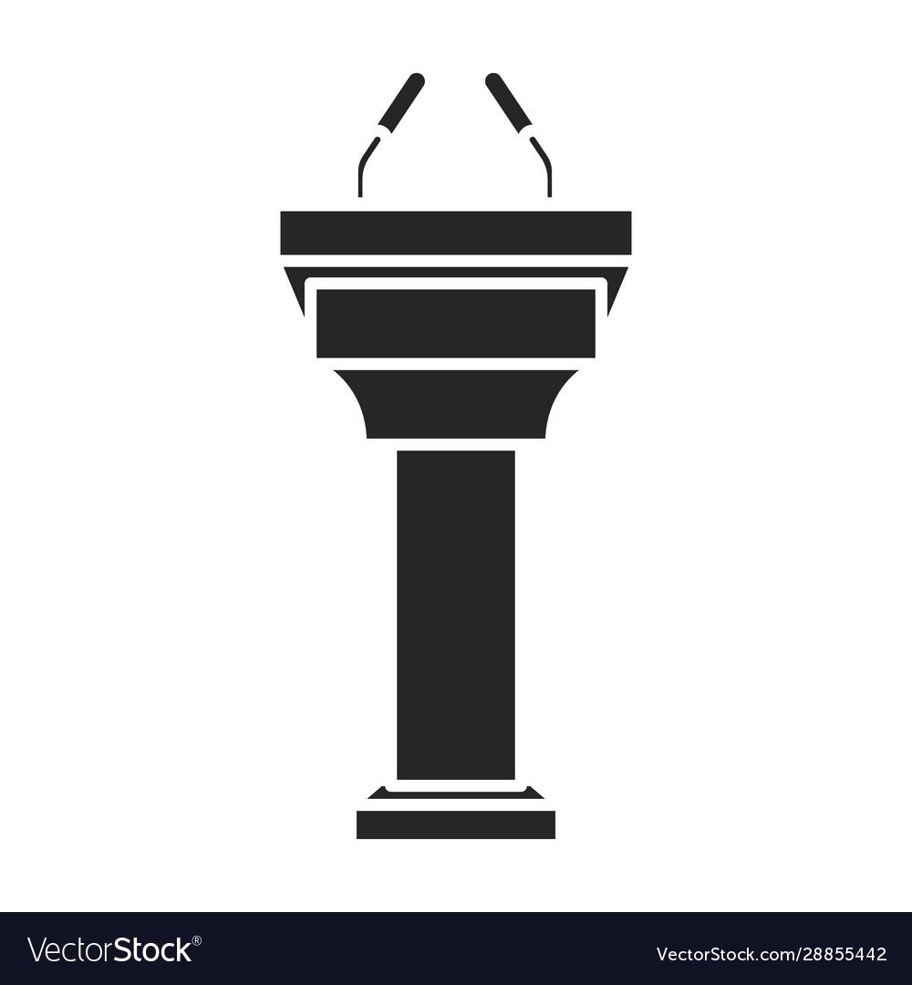 Tribune iconblack icon isolated