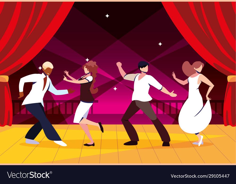 Dance Floor Party Dancing Vector Image