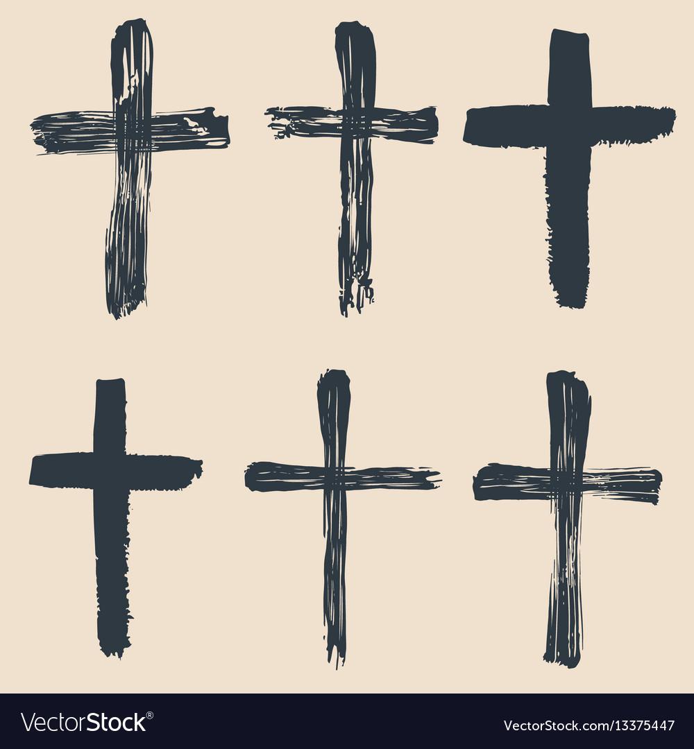 Grunge religious baptism christian crosses