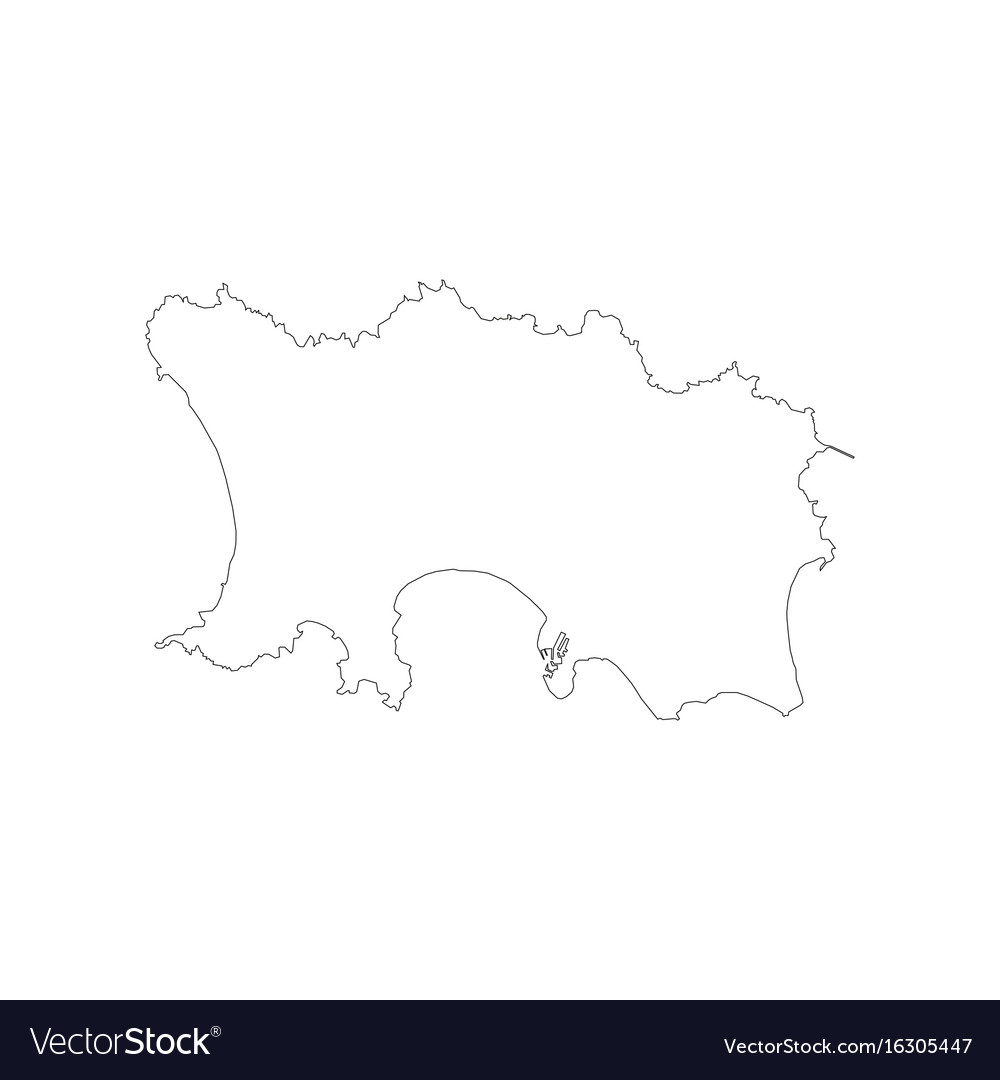 Jersey map outline Royalty Free Vector Image - VectorStock