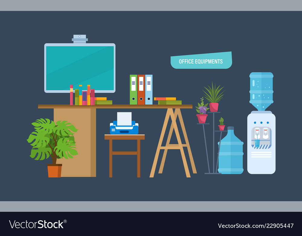 Office equipments workplace