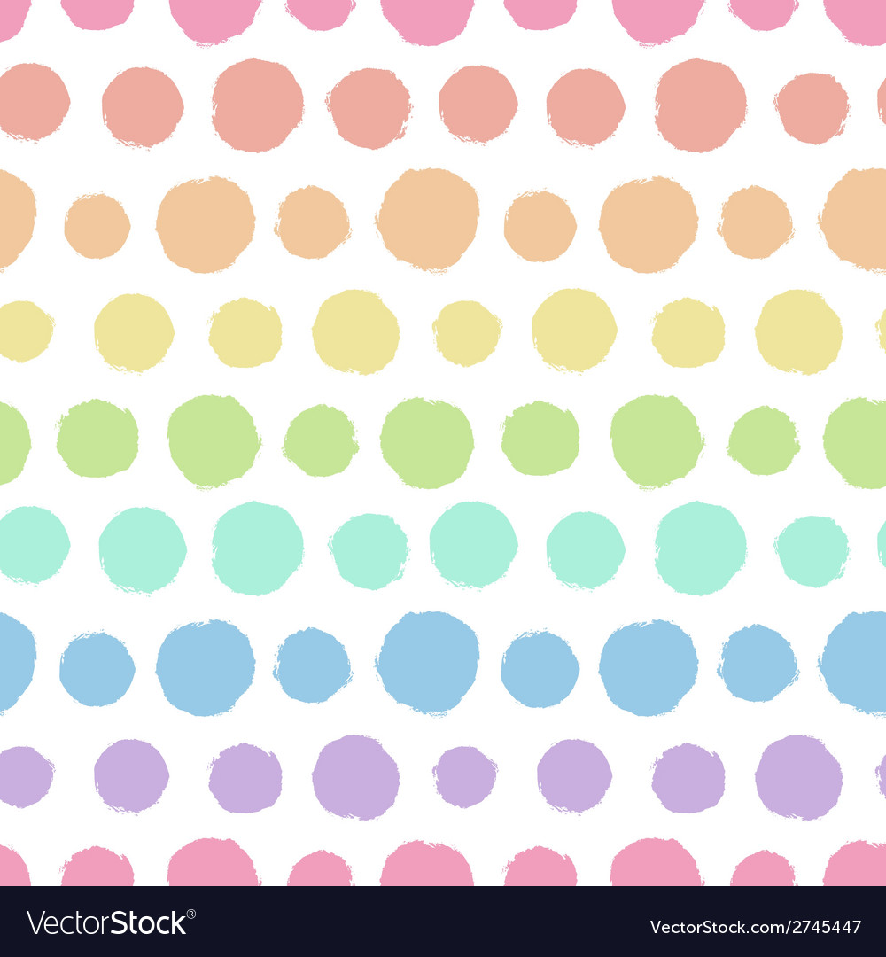 Seamless pattern with painted polka dot texture
