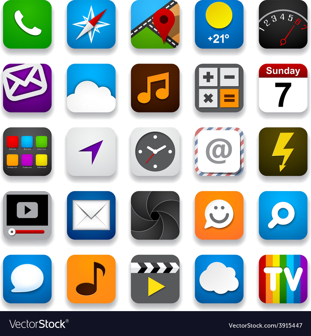 Set of app icons