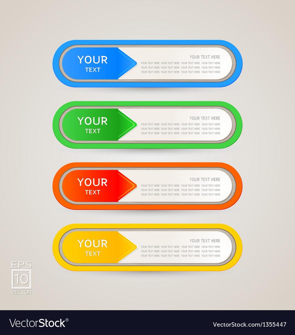 Sticker Label color set
