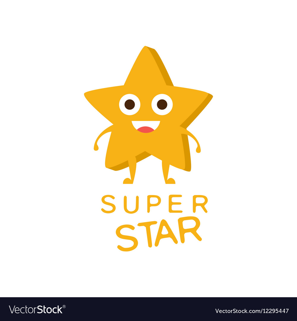 super star word and corresponding royalty free vector image