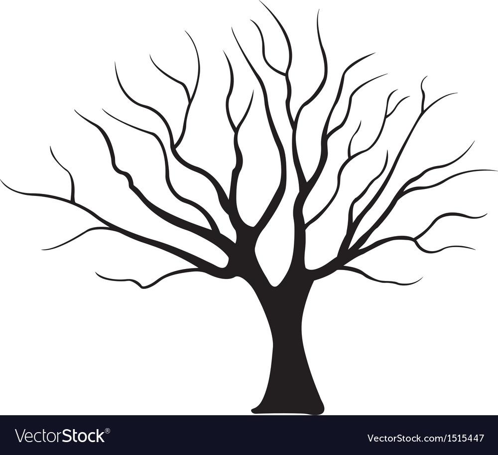 tree royalty free vector image vectorstock rh vectorstock com vector tree silhouette vector tree art